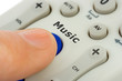 Hand pushing button Music on remote control