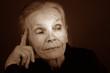 Nice Image of a Elderly Lady on Grey