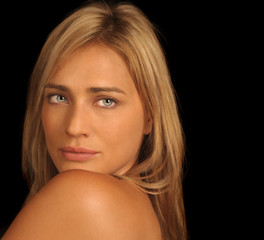 Glamour Porträt einer schönen Frau