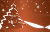 weihnachtsbaum braun poster