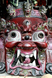 Mask of Bhairab, hindu god poster