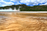 The scenery at Midway Geyser Basin in Yellowstone National Park poster