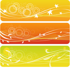 a set of autumn banners