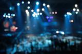 defocused abstract spotlights on concert poster