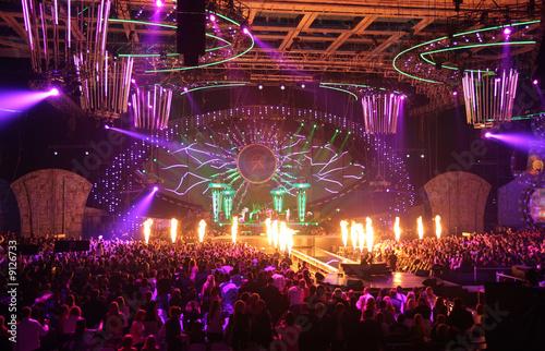 Leinwandbild Motiv in nightclub. big concert.