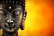 Statue de Buddhasur fond de lumière
