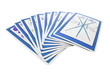 Tarot Cards on Isolated White Background