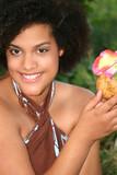 beautiful young female in sarong, Hawaiian theme poster