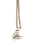 object on white - Silver chain with pendant poster