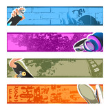 Urban culture backgrounds for the banners or headers.