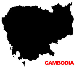 cambodia map high resolution
