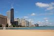 Lake Michigan and the Chicago Skyline from Ohio Street Beach