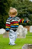 Enfant à la campagne.