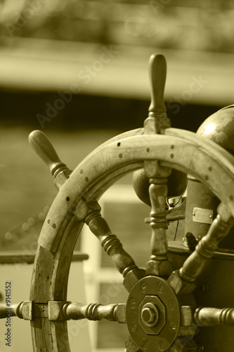 Photo of the Boat steering wheel