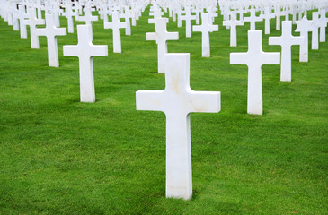 American cemetery. Normandy, France