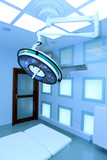 Big surgical lamp in operation theater poster