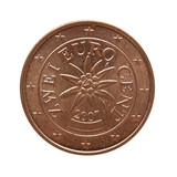 Two Euro Cents coin money