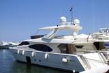 power boat. motor boat. cruiser in marbella, spain poster