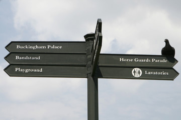 Directional Sign in London