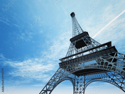 An illustration of the Eiffel tower in Paris