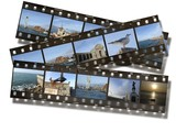 Filmstrips of Sights at Portsmouth Hampshire poster