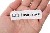 Headline of Life Insurance for background poster