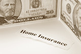 Headline of Home Insurance for background poster