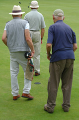 Males playing bowls