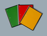 Set of three notepads add your subject title poster