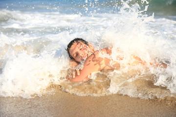 mann überschwemmung