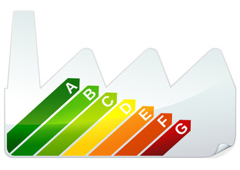 Sticker étiquette performance énergétique industrielle