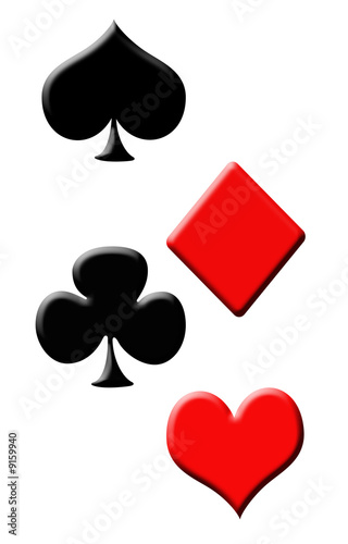 2D poker symbol isolated on a white background