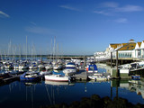 Fototapety Yachts moored at Ocean Village, Southampton