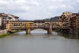 View of the Ponte Vecchio up the Arno River, Florence, Italy poster