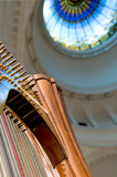 Harp strings close up - Classic music concert in synagogue poster