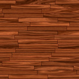 Seamless Wooden Parquet Flooring Abstract Background in Brown poster