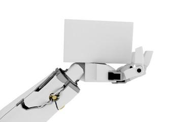 Slim Robot Arm, White Sign