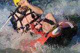 kayak descente rivière rapide canoé eau vive poster