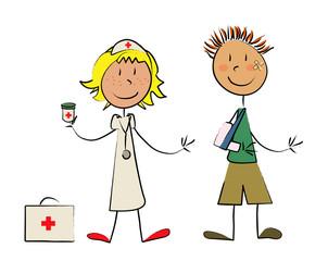 infirmière et malade