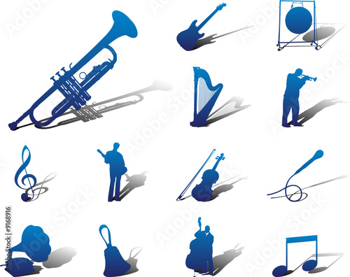 Set icons. Music