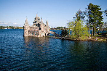 Power house on Heart Island in thousand islands
