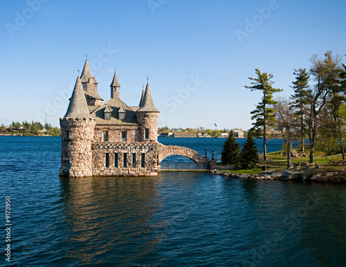 Boldt Castle on Heart Island on St. Lawrence River
