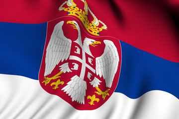 Rendered Serbian Flag