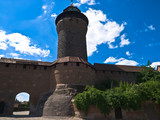 Nuremberg fortifications silhouette, Kaiserberg. poster