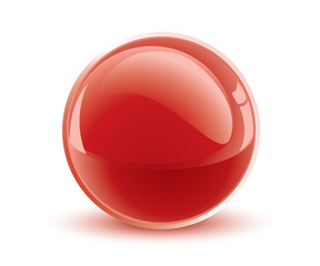 3d vector red sphere