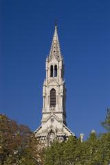 le clocher de l'église sainte-perpétue à Nîmes
