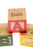 ABC learning blocks poster
