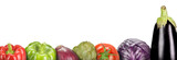 composition with vegetables on a white background (panoramic)