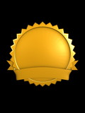 3d image, best brand badge, Gold