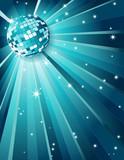 Mirror disco ball poster